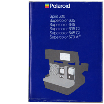 polaroid instruction manuals for sale polaroid madness ireland. Black Bedroom Furniture Sets. Home Design Ideas